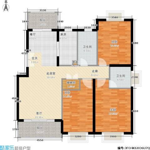 嘉和阳光城3室0厅2卫1厨164.00㎡户型图