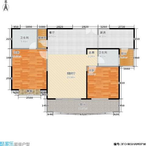扬子江家园2室1厅2卫1厨110.00㎡户型图