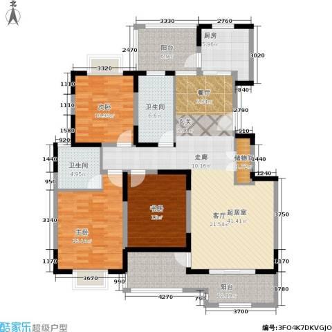 金港河滨华城3室0厅2卫1厨135.00㎡户型图