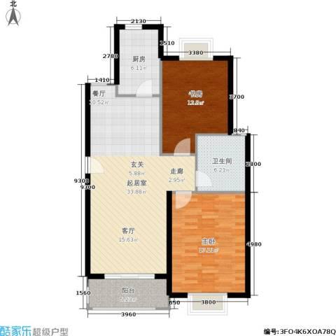 月夏香樟林2室0厅1卫1厨90.00㎡户型图