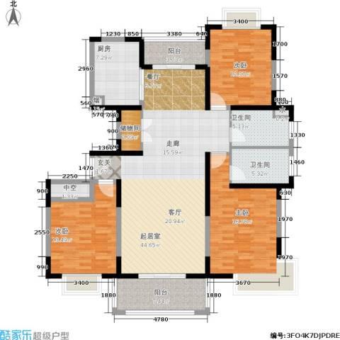 金港河滨华城3室0厅2卫1厨137.00㎡户型图