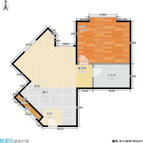 蓝堡国际公寓1室0厅1卫0厨65.00㎡户型图