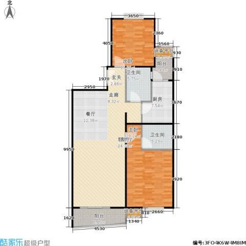 徐家汇景园2室1厅2卫1厨121.00㎡户型图
