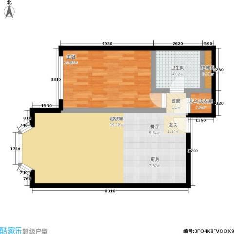 蓝堡国际公寓1室0厅1卫0厨80.00㎡户型图