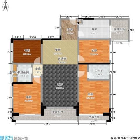 阳光100国际新城4室0厅2卫1厨151.14㎡户型图