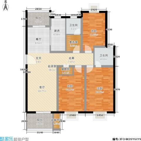 大富苑3室0厅2卫1厨110.06㎡户型图