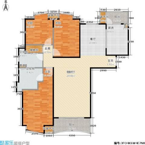 莱诗邸3室1厅2卫1厨135.00㎡户型图