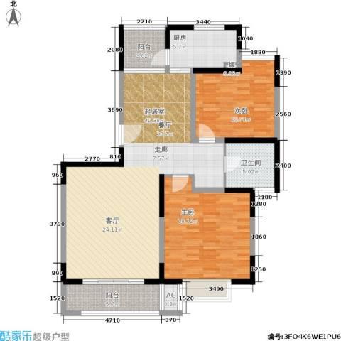 金港河滨华城2室0厅1卫1厨100.00㎡户型图