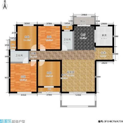 漯河建业壹号城邦4室0厅2卫1厨205.00㎡户型图