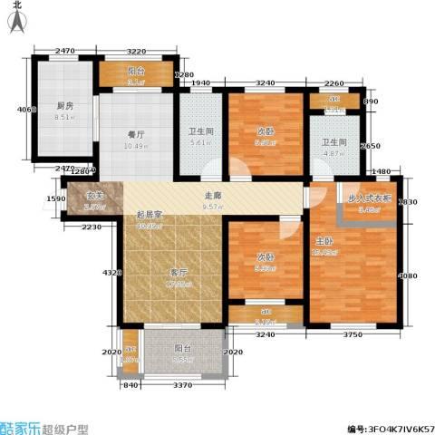 漯河建业壹号城邦3室0厅2卫1厨162.00㎡户型图