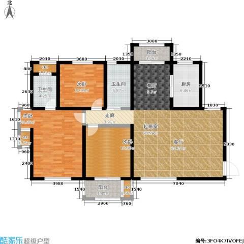 漯河建业壹号城邦3室0厅2卫1厨170.00㎡户型图