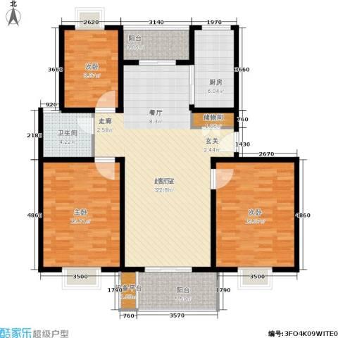 大富苑3室0厅1卫1厨110.00㎡户型图