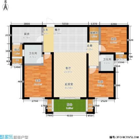 漯河建业壹号城邦3室0厅2卫1厨150.00㎡户型图