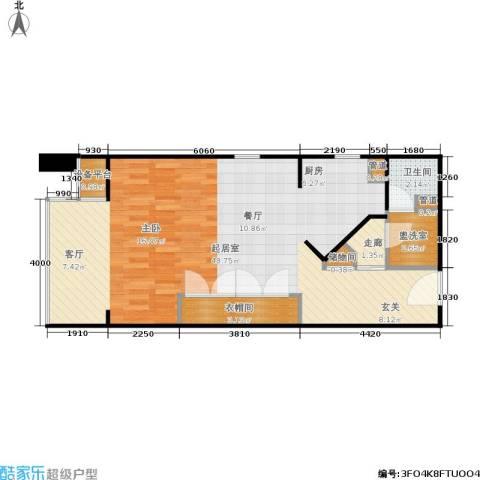 泰悦豪庭1卫0厨63.00㎡户型图