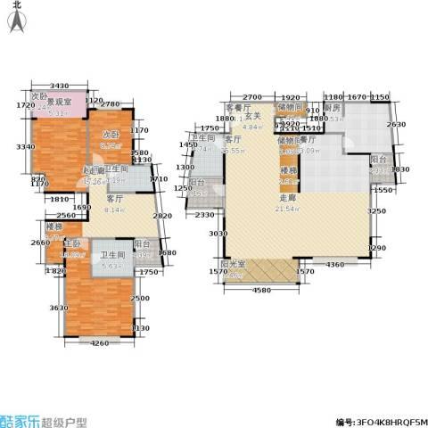 青之杰花园3室1厅3卫1厨185.00㎡户型图