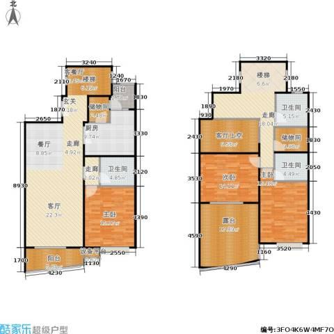 徐家汇景园3室1厅3卫1厨239.00㎡户型图