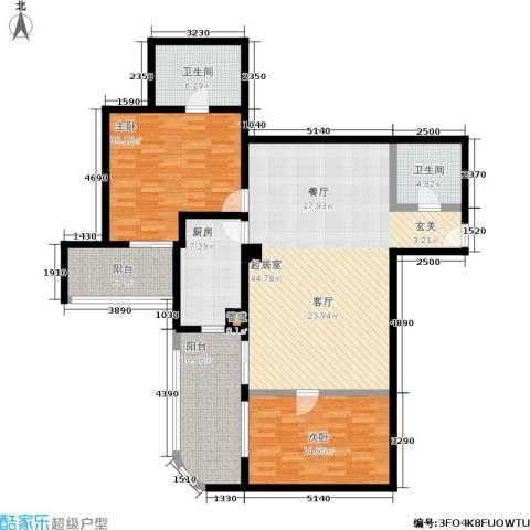 旺座中心2室0厅2卫1厨129.00㎡户型图