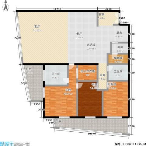 旺座中心3室0厅2卫1厨251.00㎡户型图