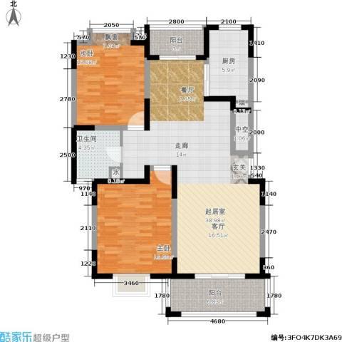 金港河滨华城2室0厅1卫1厨102.00㎡户型图