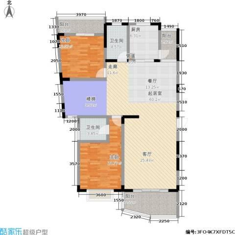 书香名邸2室0厅2卫1厨253.00㎡户型图