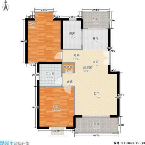 嘉和阳光城2室0厅1卫1厨132.00㎡户型图