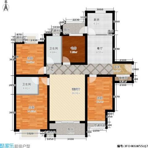 兴平昌苑4室1厅2卫1厨127.68㎡户型图