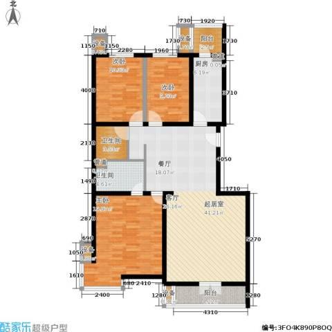 光大名筑3室0厅2卫1厨120.00㎡户型图