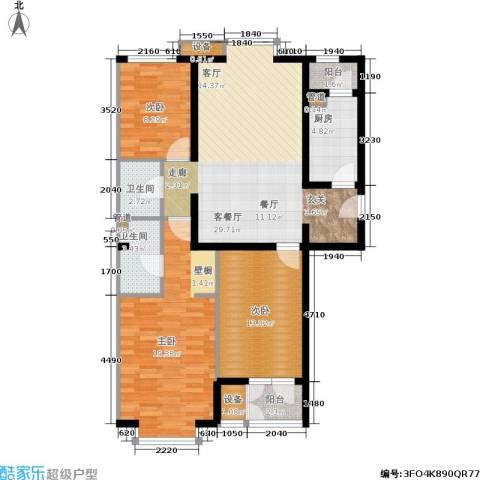 光大名筑3室1厅2卫1厨123.00㎡户型图