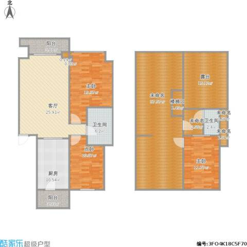 中庚香海小镇3室1厅2卫1厨198.00㎡户型图