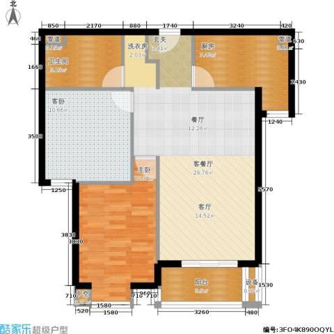 光大名筑2室1厅1卫1厨96.00㎡户型图