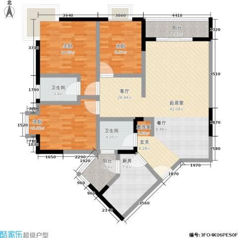 龙脊万兴家园3室0厅2卫1厨118.00㎡户型图