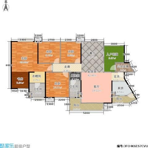 中航天逸4室0厅2卫1厨154.00㎡户型图