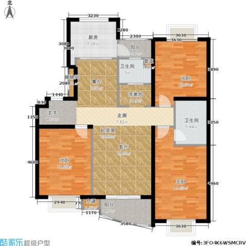 上海阳城3室0厅2卫1厨124.00㎡户型图