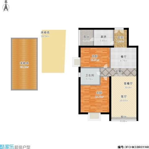 运河明珠家园2室1厅1卫1厨143.00㎡户型图