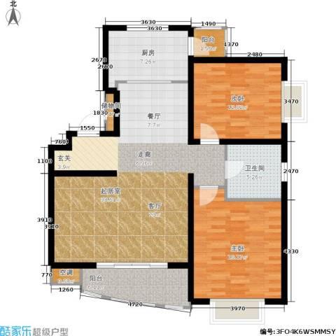 上海阳城2室0厅1卫1厨100.01㎡户型图