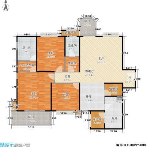 公园5号3室1厅2卫1厨156.00㎡户型图