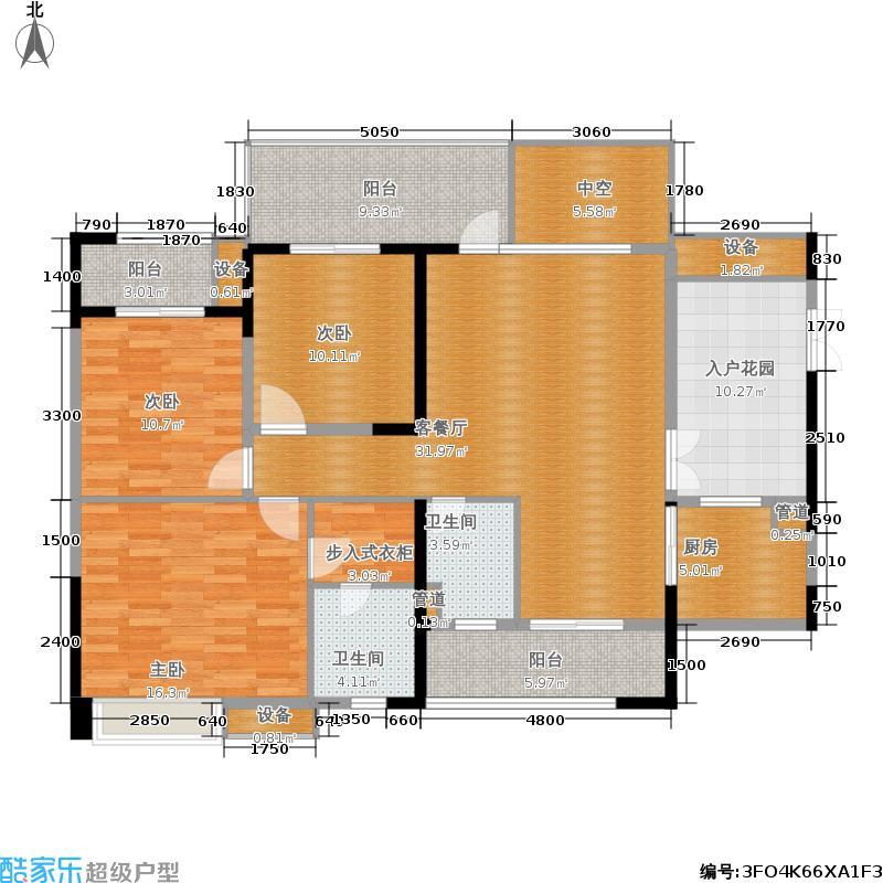 华都美林湾128.30㎡华都美林湾户型图8月在售12号楼G3户型128.3平米三室两厅两卫(已售完)(3/15张)户型3室2厅2卫