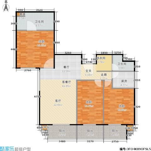 甘露家园3室1厅2卫1厨135.00㎡户型图