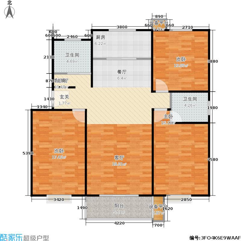 汇丰馨苑3房2厅2卫户型3室2厅2卫
