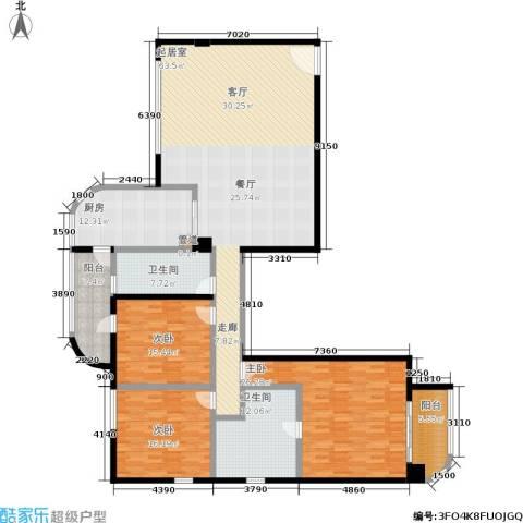 旺座中心3室0厅2卫1厨188.00㎡户型图
