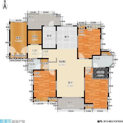 瀛通金鳌山公寓3室1厅2卫1厨153.00㎡户型图
