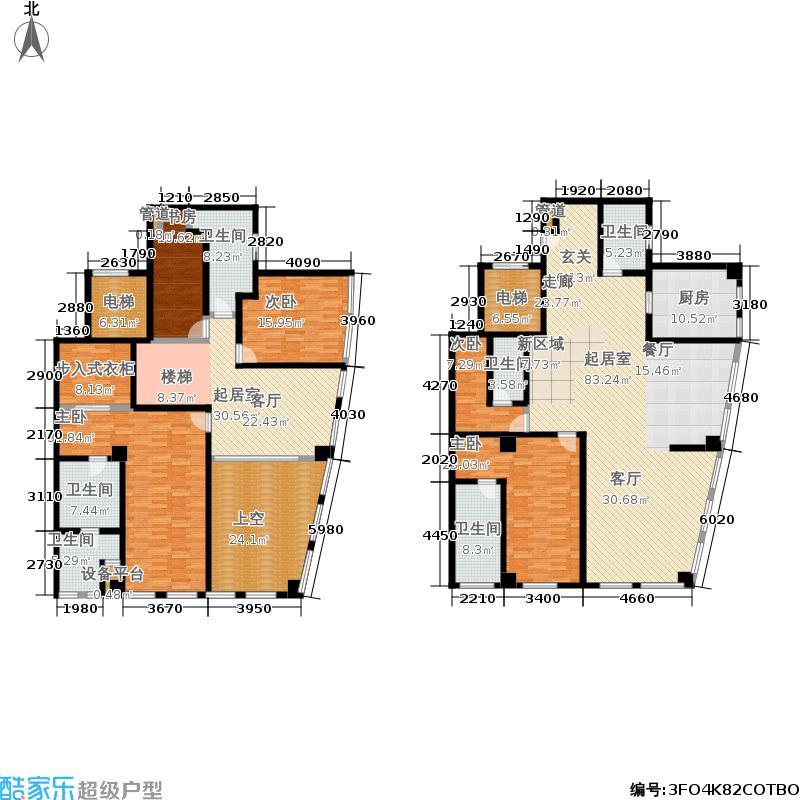 青岛凯悦中心382.07㎡47-48层02/03户型