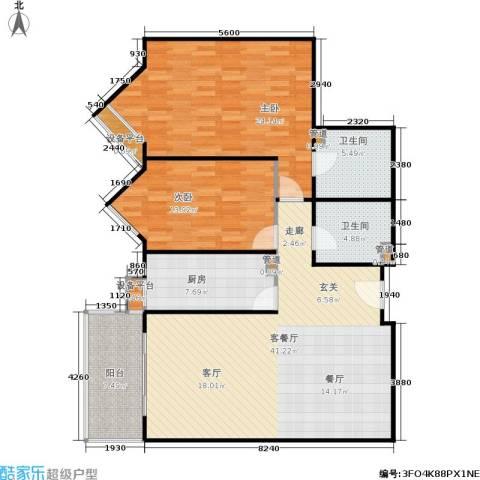 公园5号2室1厅2卫1厨114.00㎡户型图