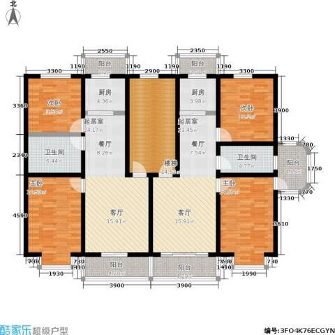 山水文园4室0厅2卫2厨148.47㎡户型图