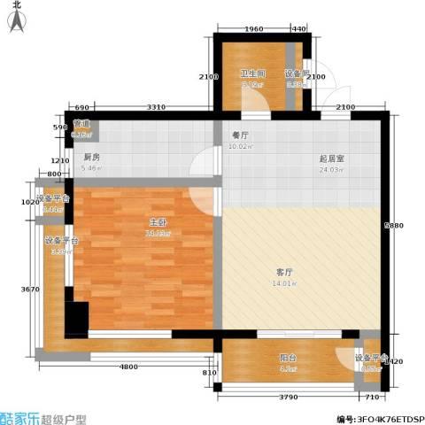 沈阳曙光大厦1室0厅1卫1厨67.59㎡户型图