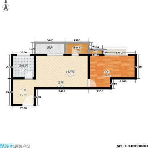 金仕华城1室0厅1卫1厨52.00㎡户型图