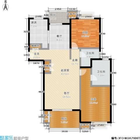 满庭芳花园2室0厅2卫1厨150.00㎡户型图