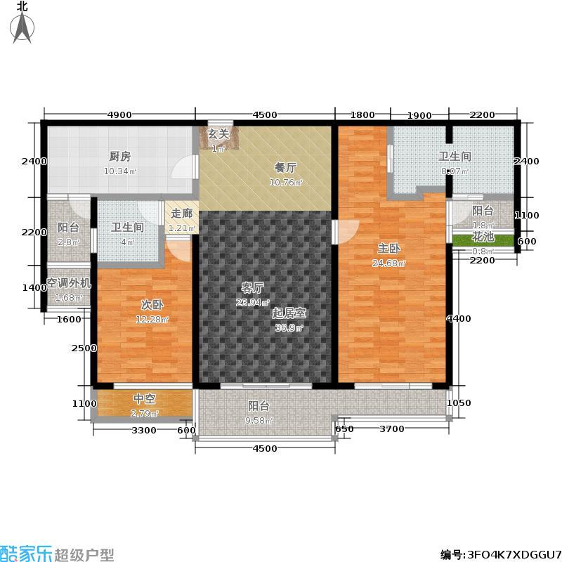 海峡国际社区139.00㎡翡翠公馆E栋、F栋02户型