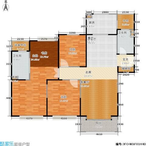 合生财富海景公馆3室1厅2卫1厨160.00㎡户型图