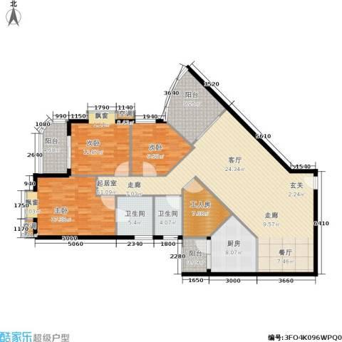 麓湖御景3室0厅2卫1厨184.00㎡户型图